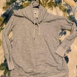 Liz Lange Grey Maternity Cowl Neck Sweater